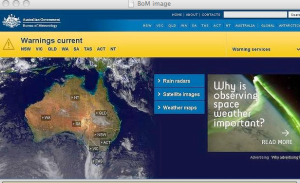Screen Grab from the Bureau of Meteorology
