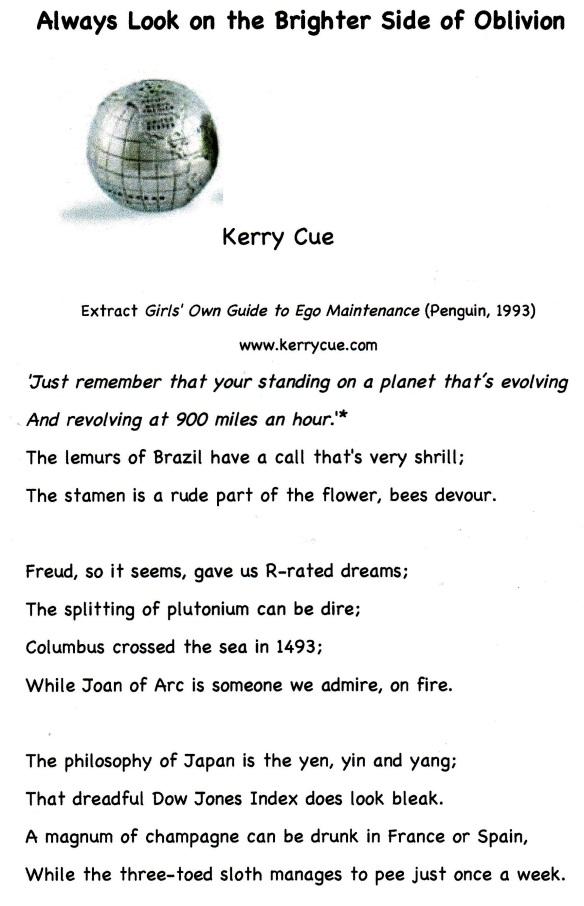 Kerry Cue Oblivion 1