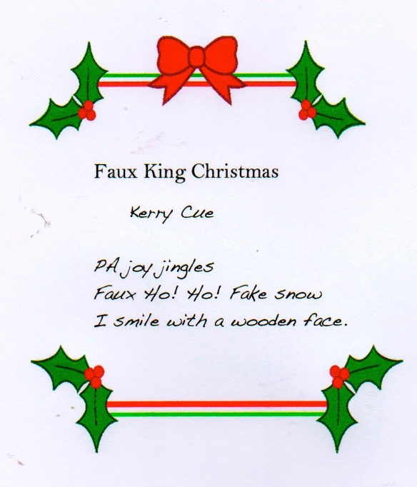 Faux King Christmas Kerry Cue