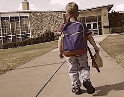 kid going to school