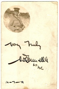 Michael O'Donnell  Postcard 1911 Remembering 1910 March Melbourne to Bendigo